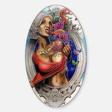 Tattooed Sticker (Oval)