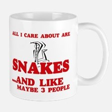 All I care about are Snakes Mugs