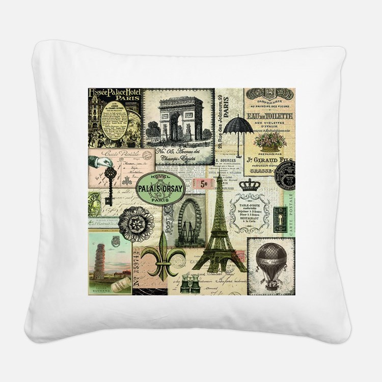 Heather Myers Vintage Everyth Square Canvas Pillow