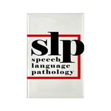 SLP - Speech Language Patholo Rectangle Magnet