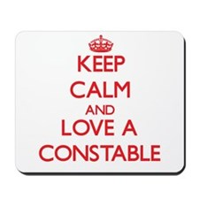 Keep Calm and Love a Constable Mousepad