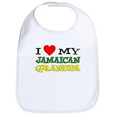 Love My Jamaican Grandpa Bib