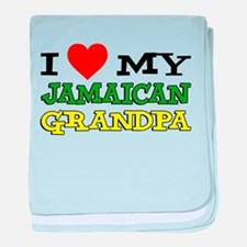 Love My Jamaican Grandpa baby blanket