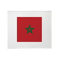 Flag of Morocco Throw Blanket