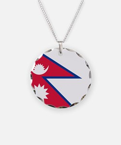 Flag of Nepal Necklace