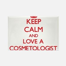 Keep Calm and Love a Cosmetologist Magnets