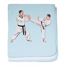 Teakwondo No Text baby blanket