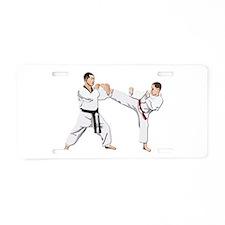 Teakwondo No Text Aluminum License Plate