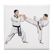 Teakwondo No Text Tile Coaster