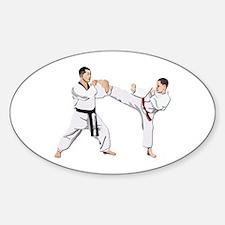 Teakwondo No Text Sticker (Oval)