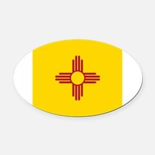 Flag of New Mexico Oval Car Magnet