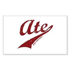 Ate Rectangle Decal