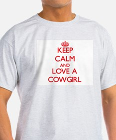 Keep Calm and Love a Cowgirl T-Shirt