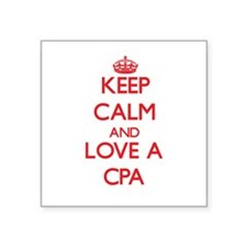 Keep Calm and Love a Cpa Sticker