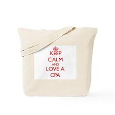 Keep Calm and Love a Cpa Tote Bag