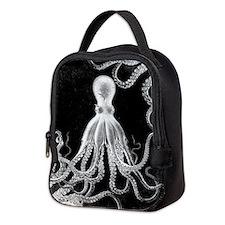 Vintage Octopus Dark Neoprene Lunch Bag