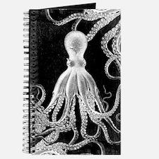 Vintage Octopus Dark Journal
