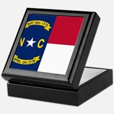 Flag of North Carolina Keepsake Box