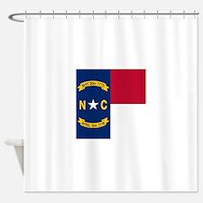Flag of North Carolina Shower Curtain