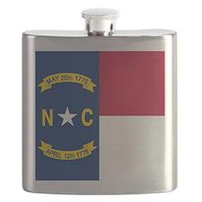Flag of North Carolina Flask