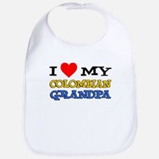 Love My Colombian Grandpa Bib