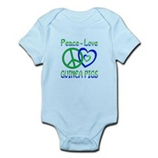 Peace Love Guinea Pigs Infant Bodysuit