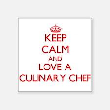 Keep Calm and Love a Culinary Chef Sticker