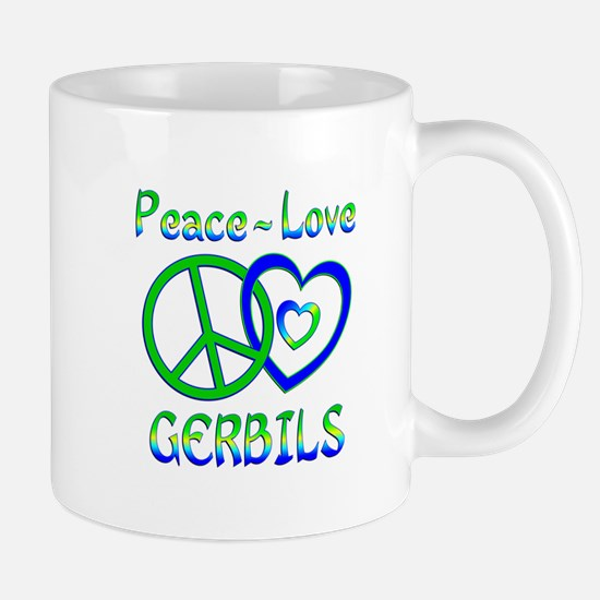 Peace Love Gerbils Mug