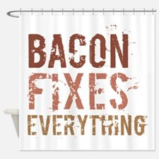 Bacon Fixes Everything Shower Curtain