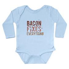 Bacon Fixes Everything Long Sleeve Infant Bodysuit