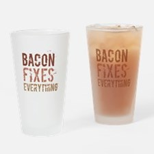 Bacon Fixes Everything Drinking Glass