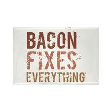 Bacon Fixes Everything Rectangle Magnet