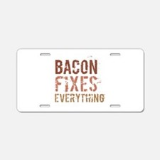 Bacon Fixes Everything Aluminum License Plate