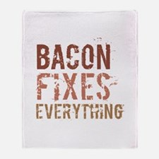 Bacon Fixes Everything Throw Blanket