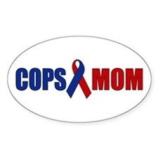 Cops Mom Oval Decal