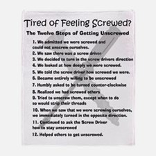 12 Steps for the Screwed Throw Blanket