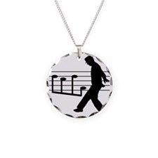 Music Man Necklace Circle Charm