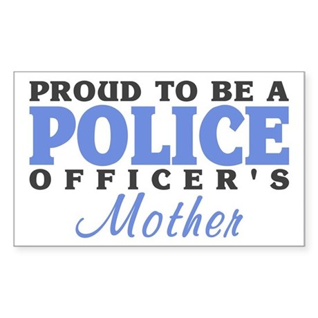 Officer's Mother Rectangle Sticker
