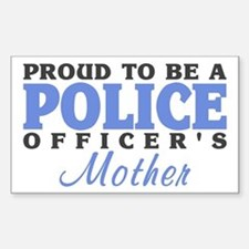 Officer's Mother Rectangle Stickers