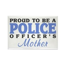 Officer's Mother Rectangle Magnet