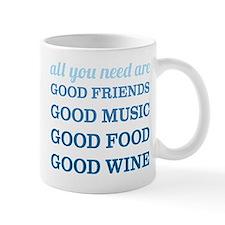 Good Friends Food Wine Mug