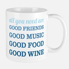 Good Friends Food Wine Mug