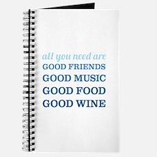 Good Friends Food Wine Journal