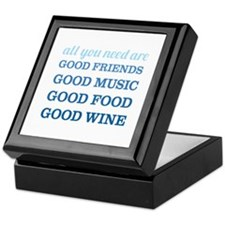Good Friends Food Wine Keepsake Box