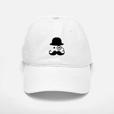 Smiley Mustache monocle Baseball Baseball Cap
