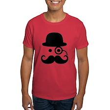 Smiley Mustache monocle T-Shirt