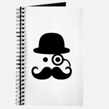 Smiley Mustache monocle Journal