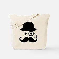 Smiley Mustache monocle Tote Bag