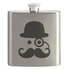 Smiley Mustache monocle Flask