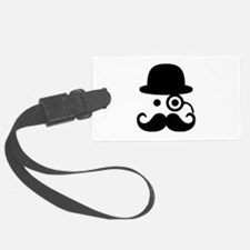 Smiley Mustache monocle Luggage Tag